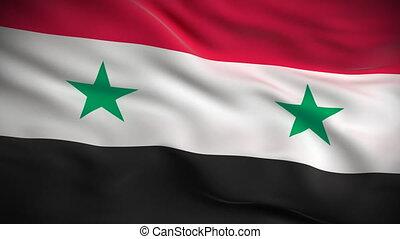 bandeira, looped., sírio, hd.
