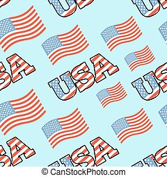 bandeira, país, eua, fundo, unidas, ornamento, patriótico, pattern., america., texture., estado, símbolo, seamless, nacional, americano, tecido