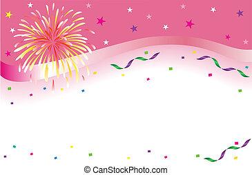 bandeira, partido, celebração