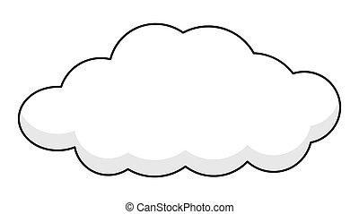 bandeira, retro, nuvem