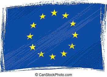 bandeira união, grunge, europeu