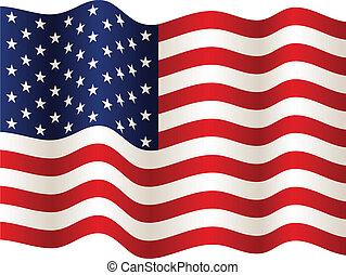 bandeira, vetorial, eua