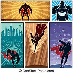 bandeiras, 2, superhero