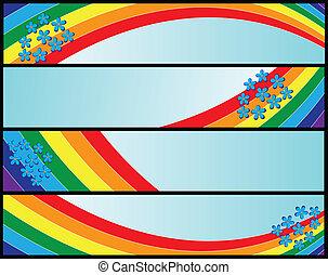 bandeiras, arco íris