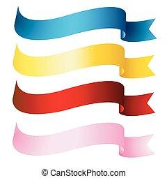 bandeiras, fitas