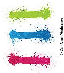 bandeiras, grunge, multicolored