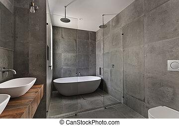 banheiro, apartamento, modernos, luxo