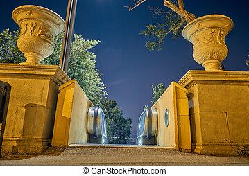 barcelona, parque, noturna