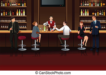 barzinhos, pessoas negócio