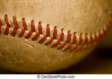 basebol, close-up, bola