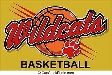 basquetebol, desenho, wildcats