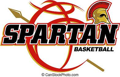basquetebol, spartan, desenho