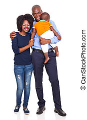 bebê, americano, par, jovem, africano