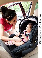 bebê, car, segurança, assento