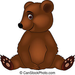 bebê, caricatura, urso
