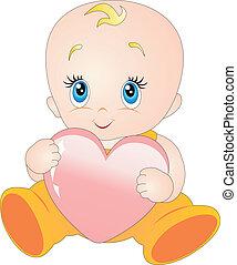 bebê, coração