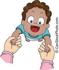 bebê, passos, primeiro