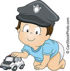 bebê, policial
