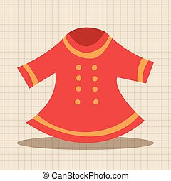 bebê, tema, elementos, roupas