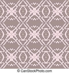 bege, arrojado, cor-de-rosa, pattern., seamless