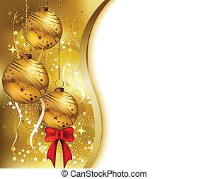 beleza, fundo, cartão, natal