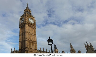 ben, grande, timelapse, relógio, westminster, londres, parlamento