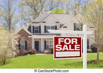 bens imóveis, casa, sinal venda, lar