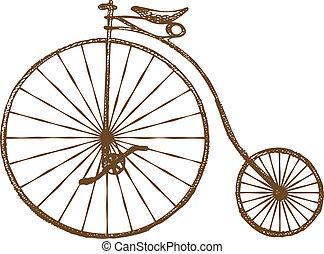 bicicleta velha, formado