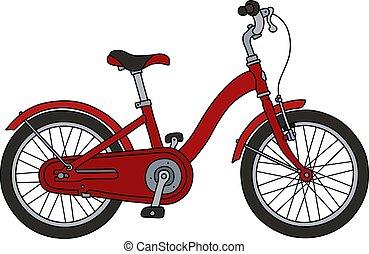 bicicleta velha, vermelho