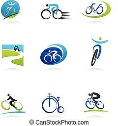 bicycles, ícones, ciclismo