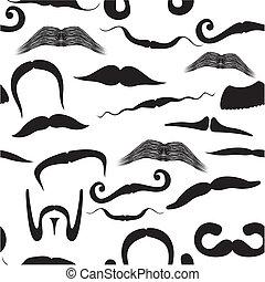 bigode, padrão, seamless