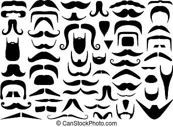 bigodes, diferente, jogo