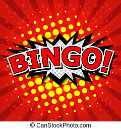 bingo!, cômico, fala, bubble.