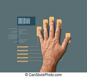 biometric, varredura