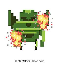 bits, ícone, pixelated, 8, espaço, estrangeiro