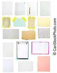 bloco de notas, antigas, cobrança