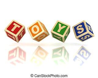 blocos, brinquedos, madeira