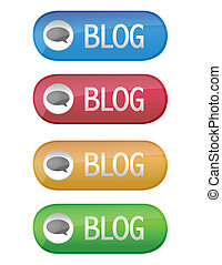 blog, botão
