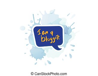 blogger, vetorial, quote., illustration.