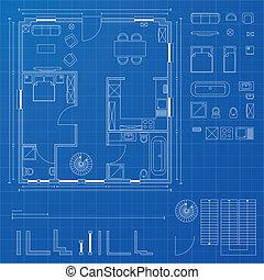 blueprint, elementos