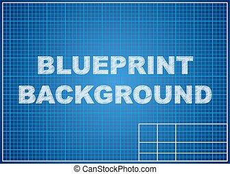 blueprint, experiência., paper., desenho, técnico