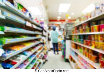 blurry, loja, conveniência