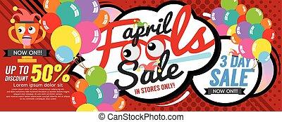 bobo, abril, bandeira, venda