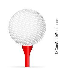 bola, baliza golfe