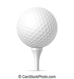 bola branca, baliza golfe