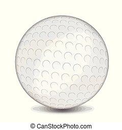 bola branca, golfe, fundo