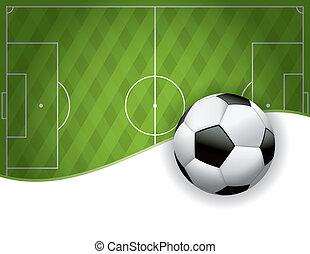 bola, campo futebol americano, americano, fundo, futebol