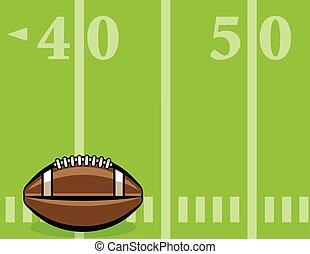 bola, futebol, ilustração, campo, americano, fundo