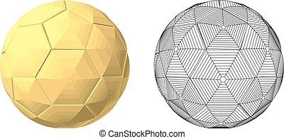 bola, futebol, ouro