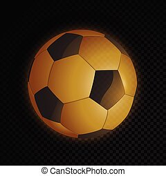 bola futebol, ouro